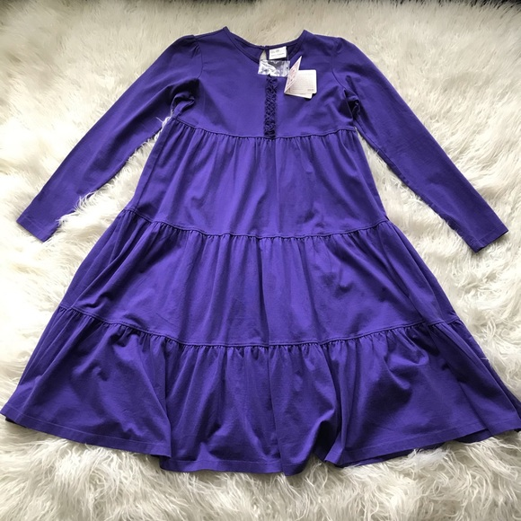 Hanna Andersson Other - HANNA ANDERSSON PURPLE TIERED RUFFLED PURPLE DURES